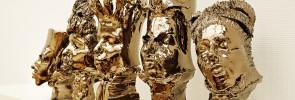 zelfportret in camouflagekleuren, 1
